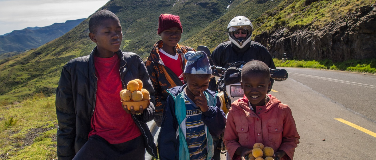 Children In Lesotho With Mike