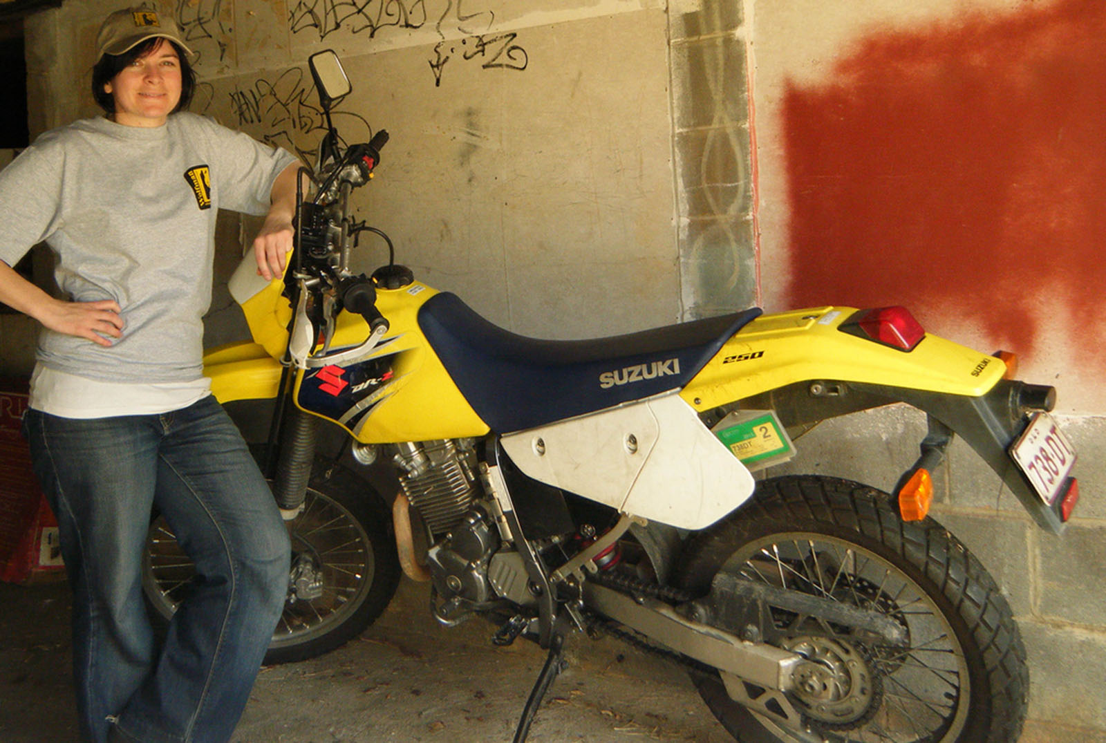 Danielle and my DRZ-250